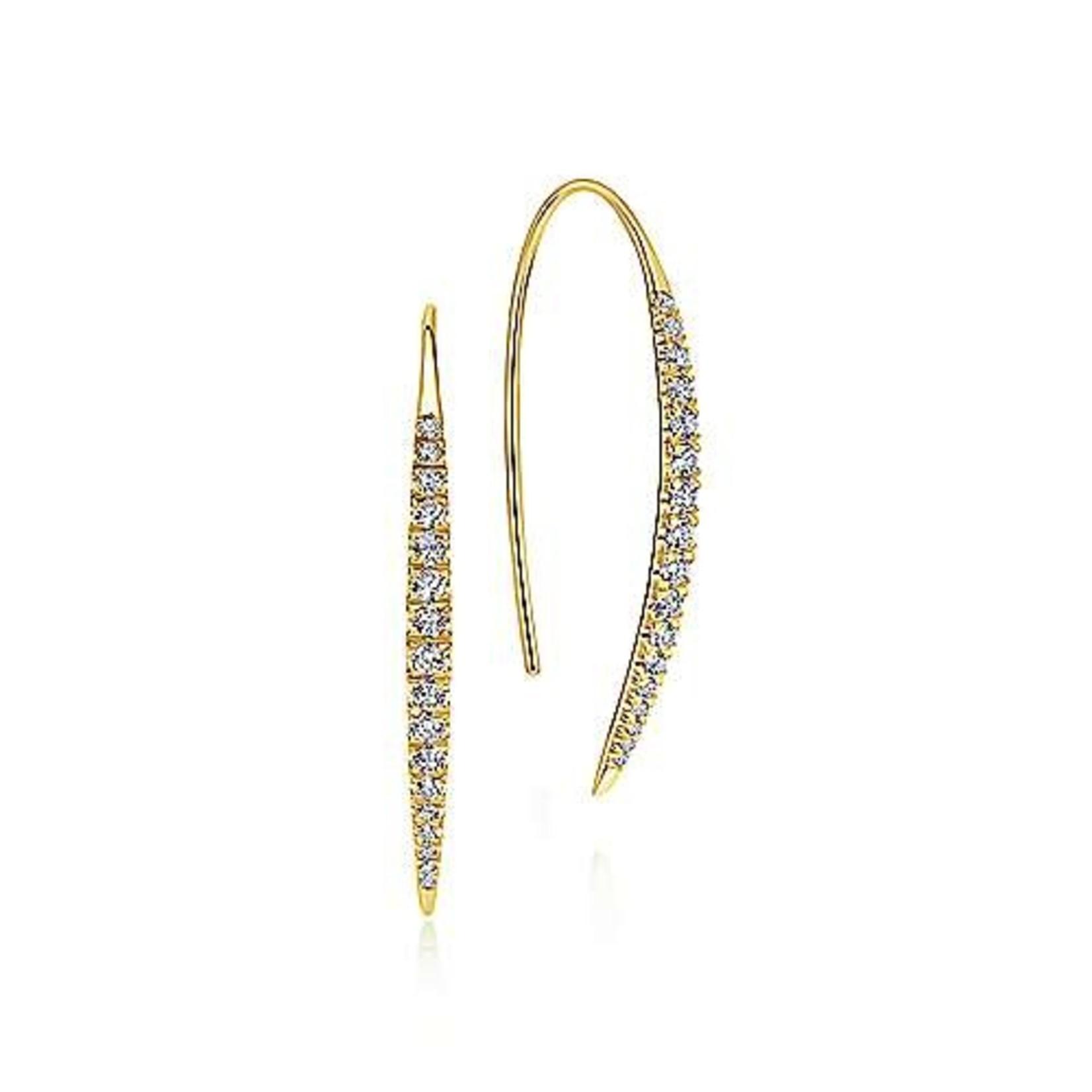 14KW Diamond Threader Drop Earrings 0.44CTW