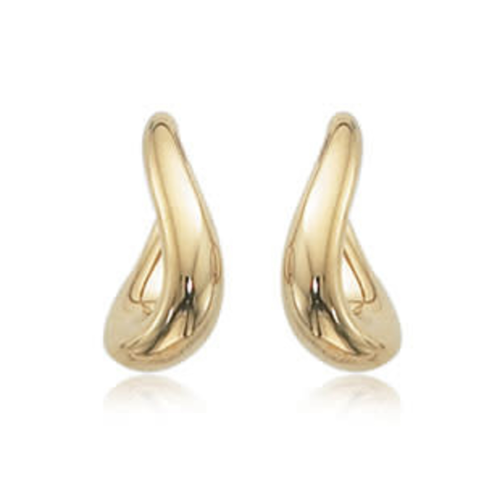 14K Yellow Gold Small Twist Hoops