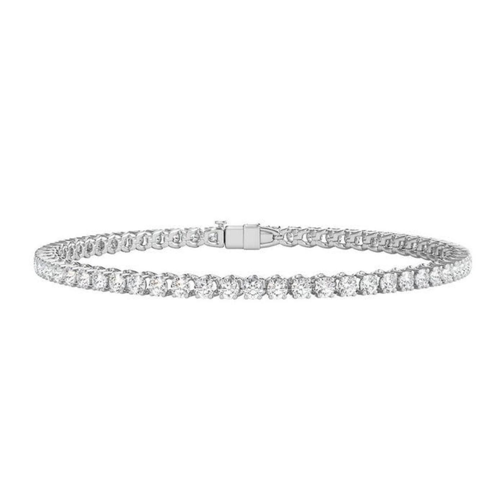 14KW Gold Diamond 4.25ctw Tennis Bracelet