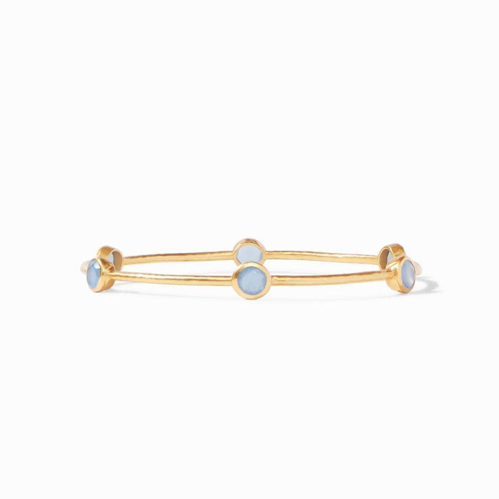 Sterling Silver Milano 6 Stone Chalcedony Bangle