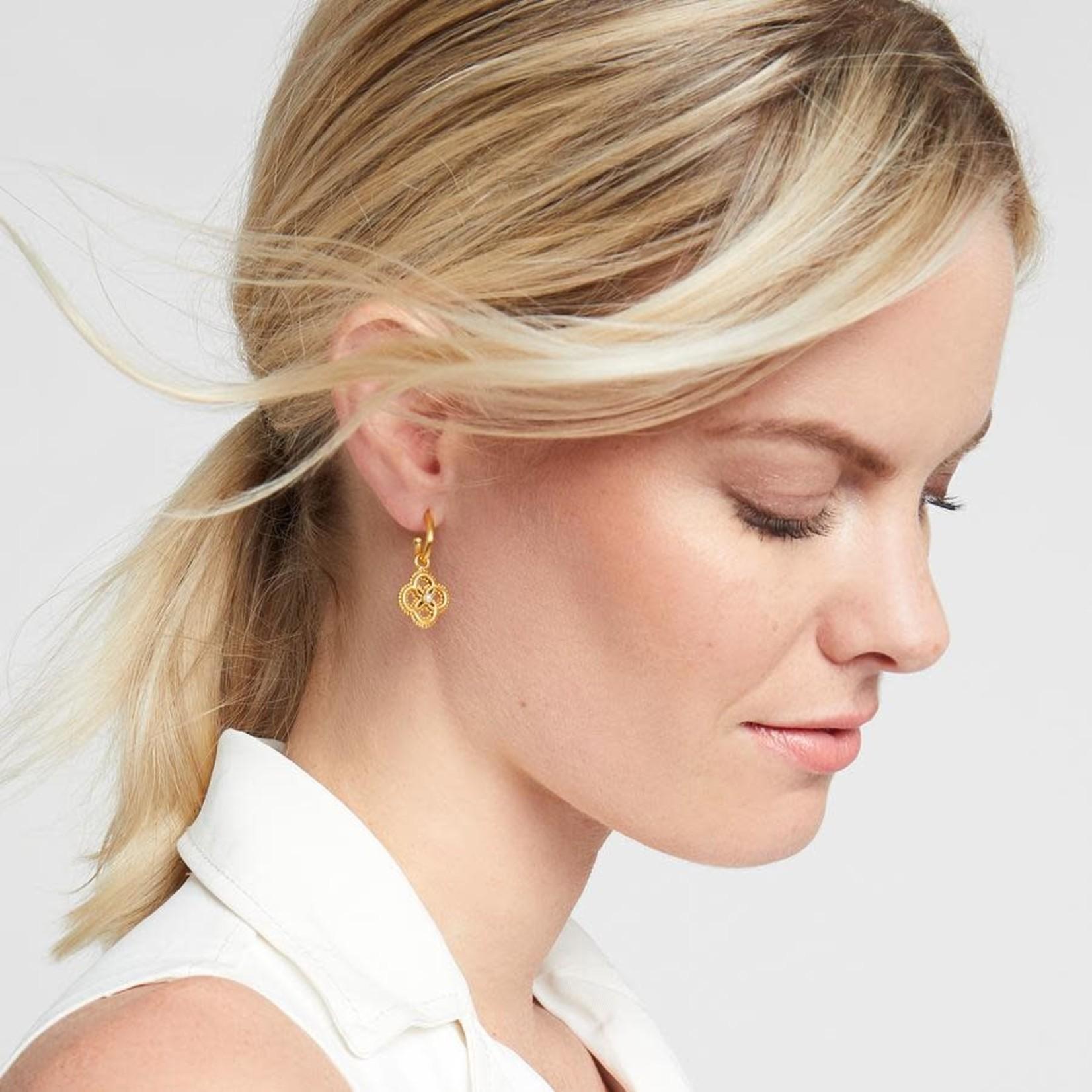 Chloe Pearl Hoop Charm Earring by Julie Vos