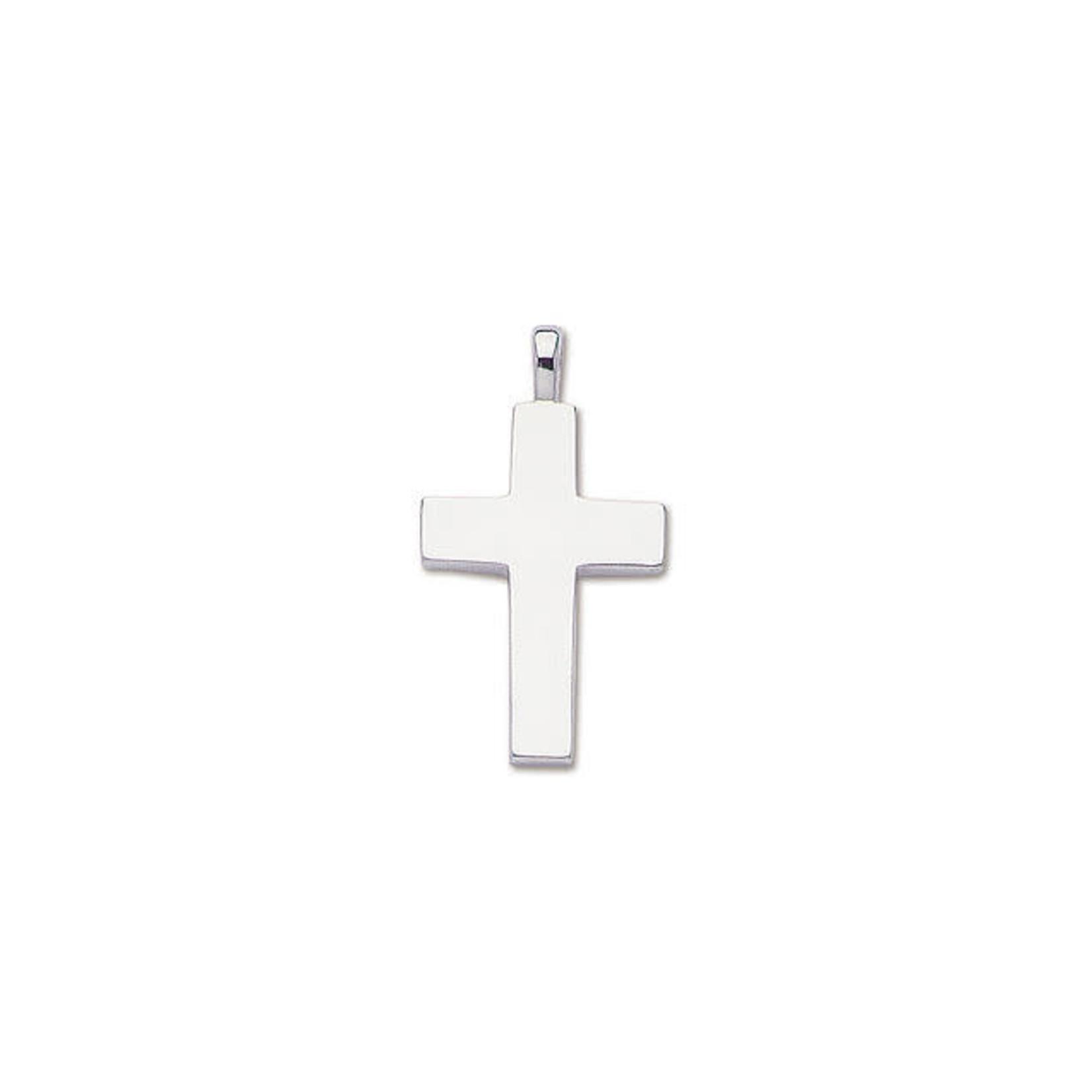 Sterling Silver Large Plain Cross