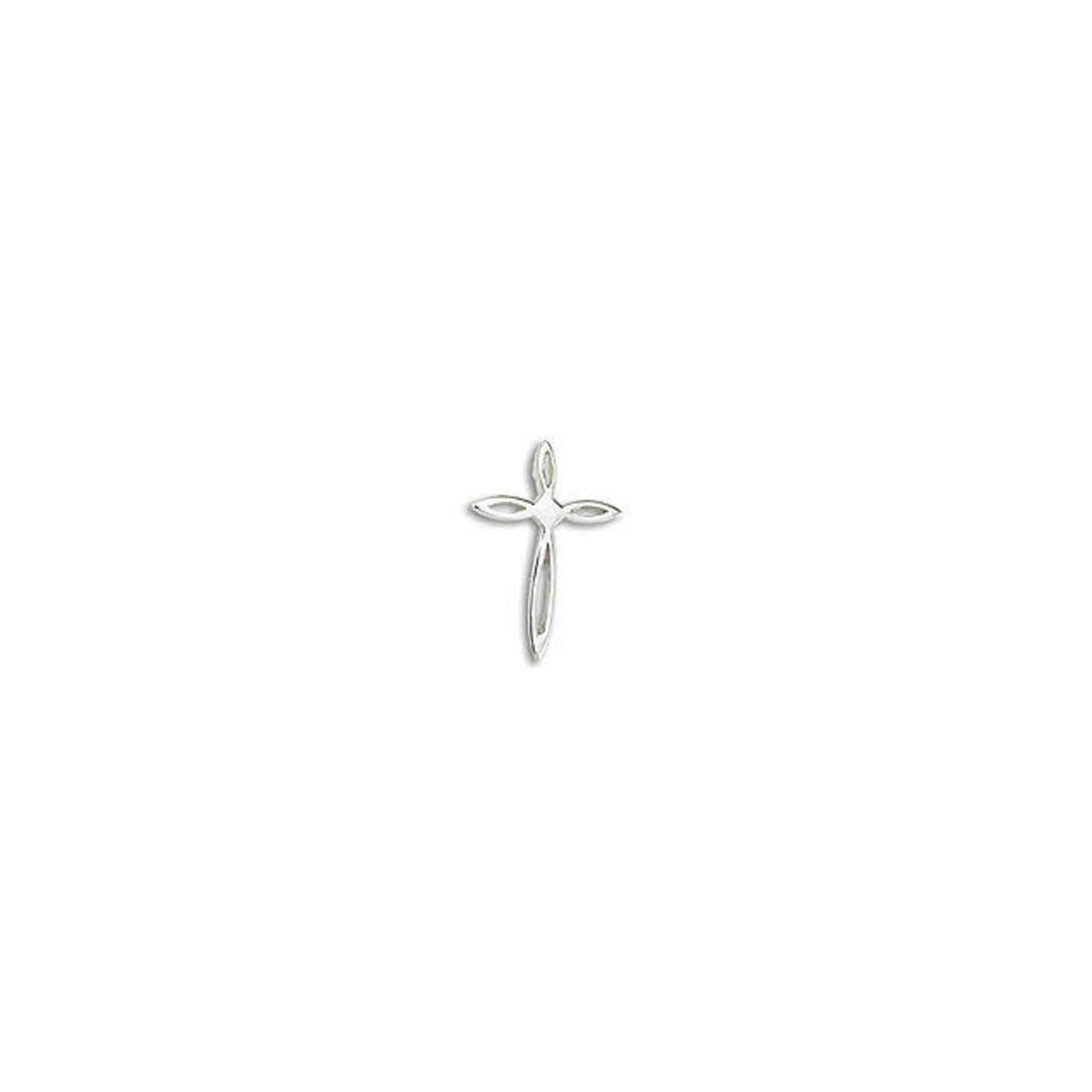 """Sterling Small Flower Cross Cable Chain 16-18"""""""