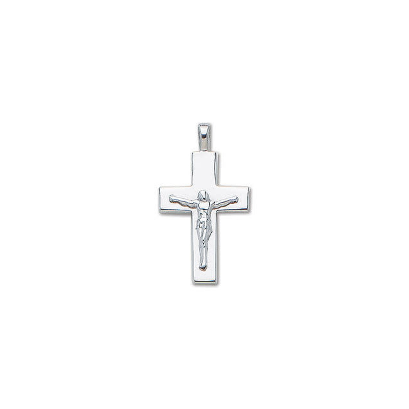 Sterling Silver Large Solid Crucifix