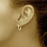 Sterling Silver Medium Round Tube Hoop Earrings