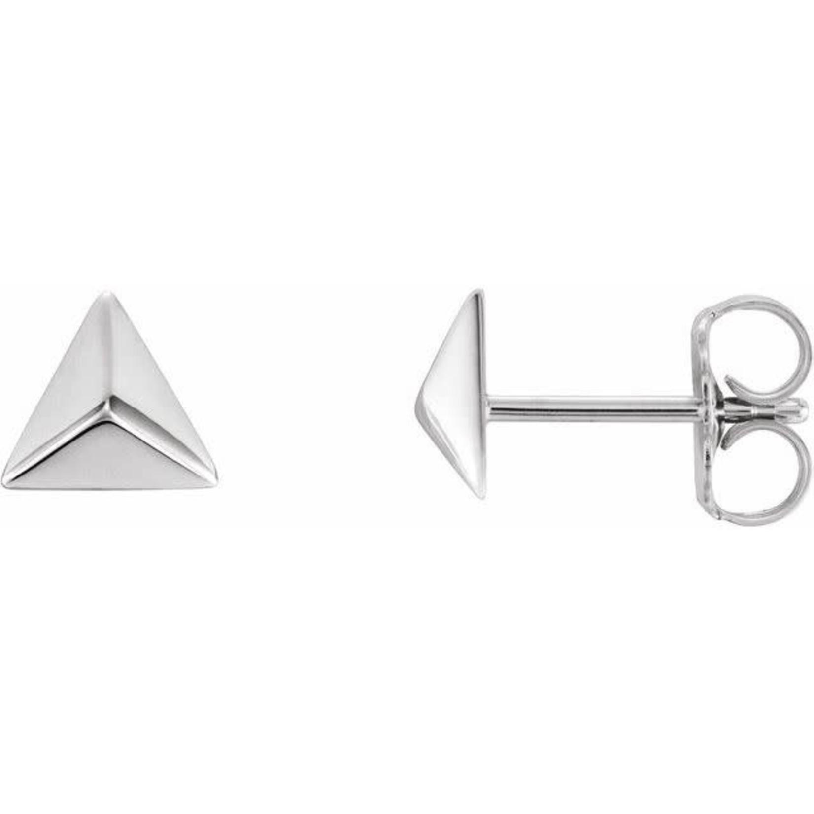 Sterling Silver Mini Pyramid Stud Earrings