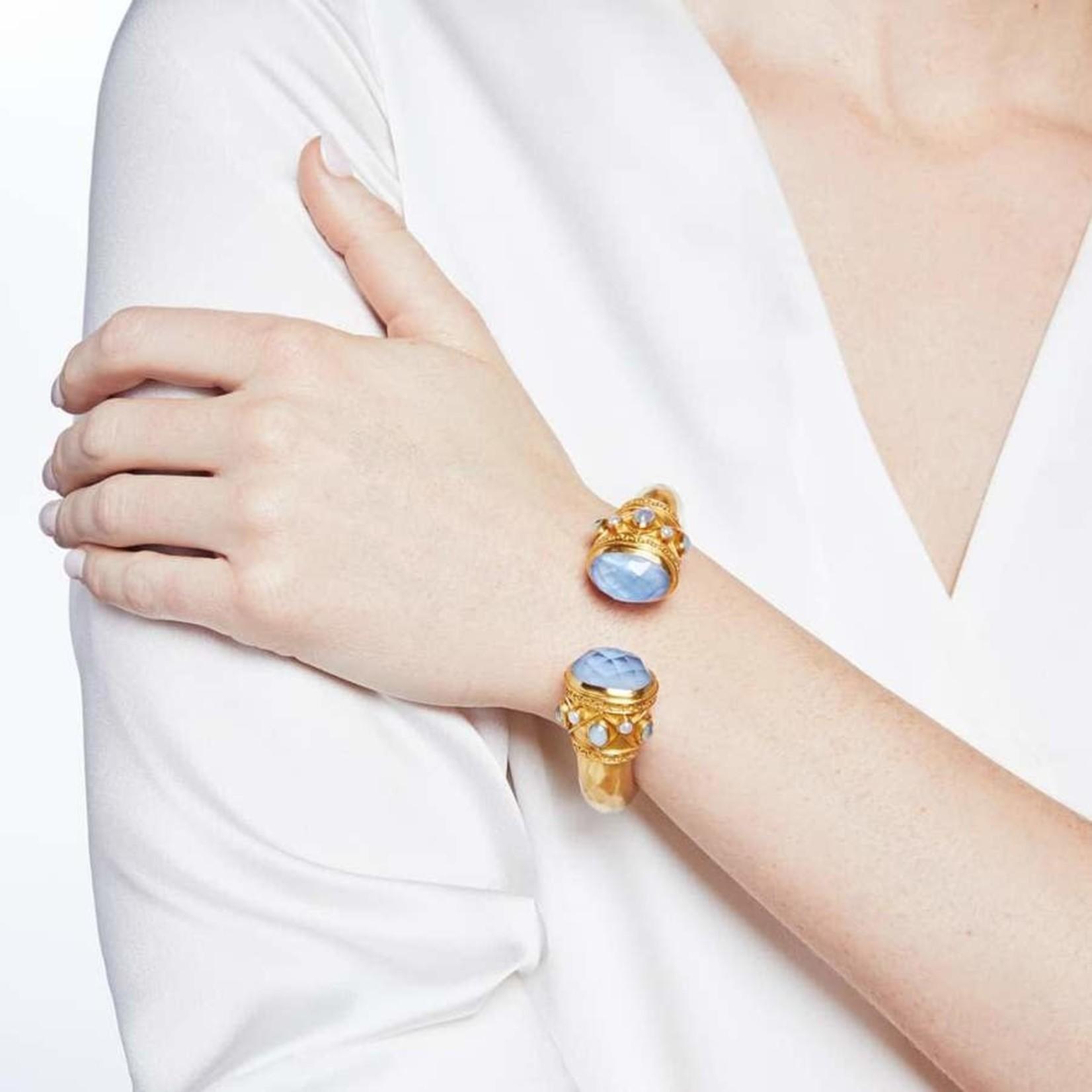 Savannah Hinge Cuff Pearl Crystal by Julie Vos