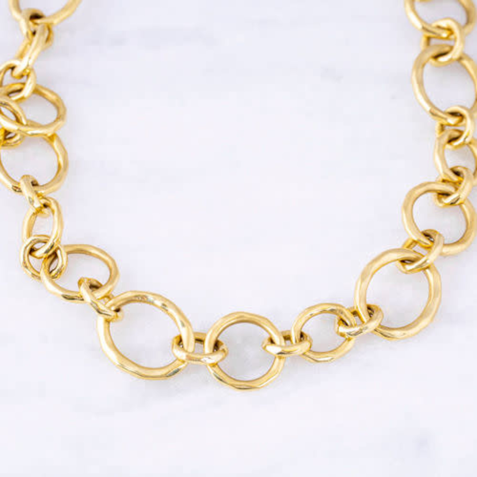 """18KY Chainlink 17.5"""" Necklace"""