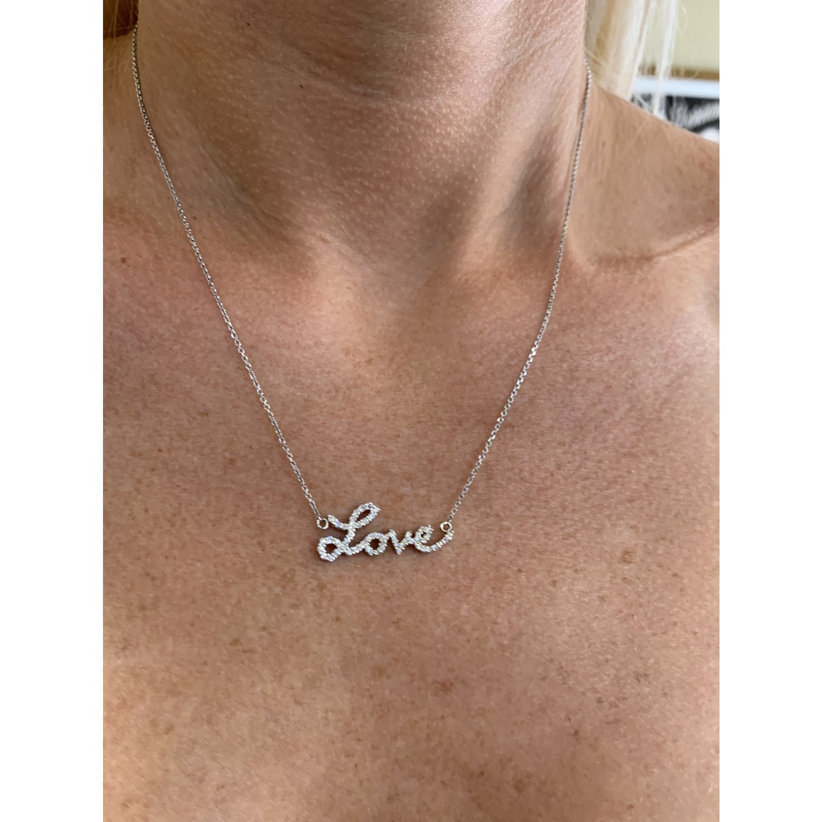 14KW Gold Diamond 0.89ctw Love Pendant