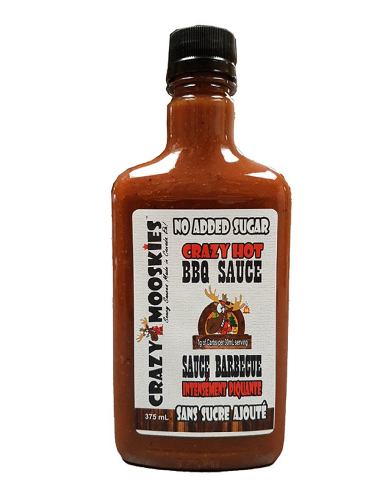 Crazy Mooskies Crazy Mooskies - No Sugar Added BBQ Sauce, Crazy Hot (375ml)