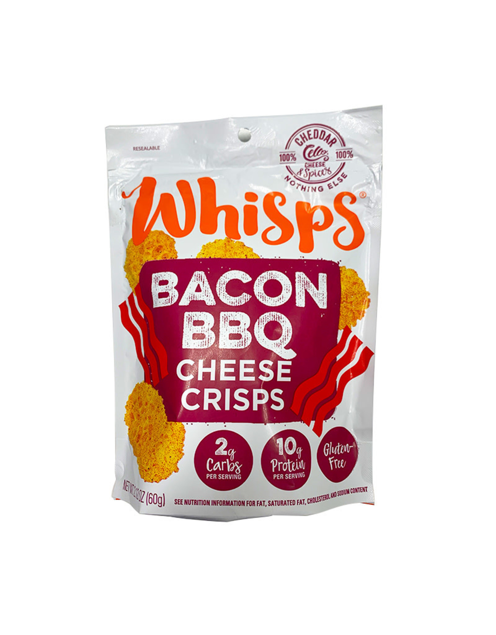 Whisps Whisps - Cheese Crisps, Bacon BBQ