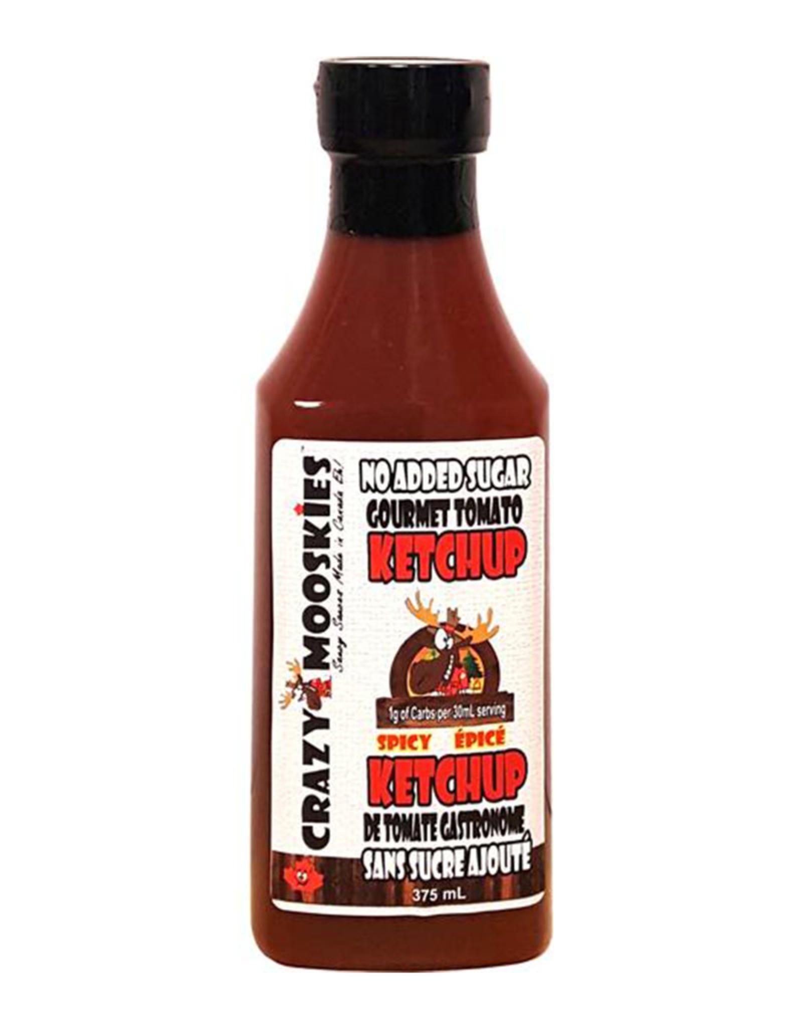 Crazy Mooskies Crazy Mooskies - No Sugar Added Ketchup with Stevia, Spicy (350ml)