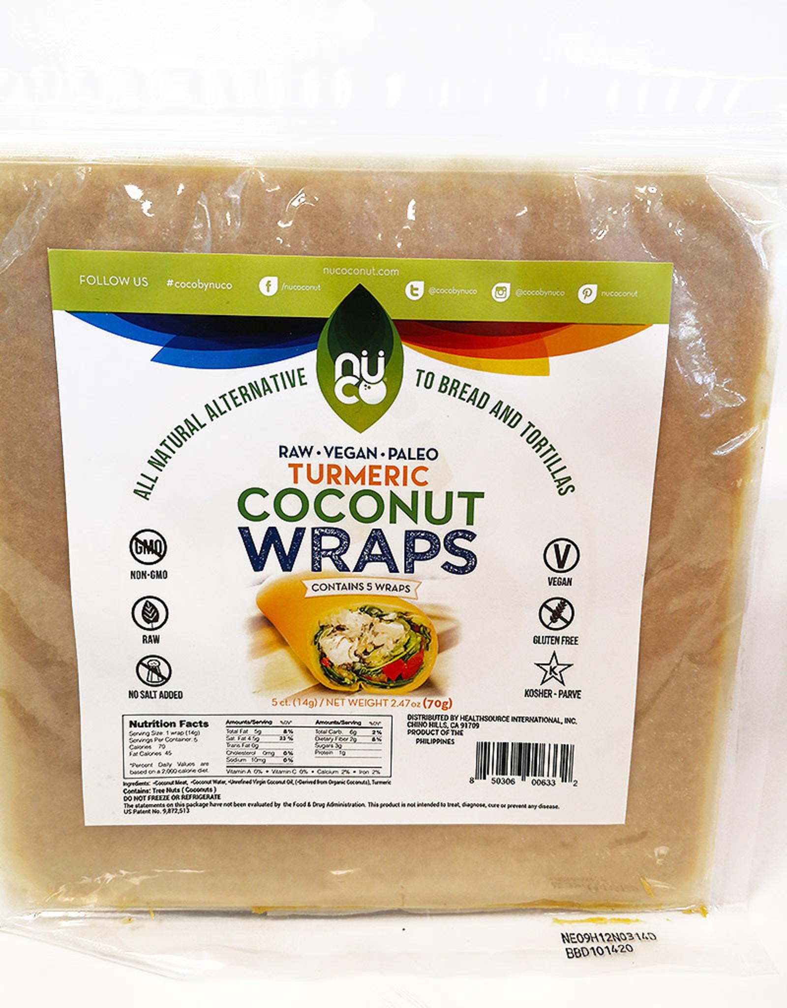 Nuco Nuco - Coconut Wraps, Turmeric (5pk)