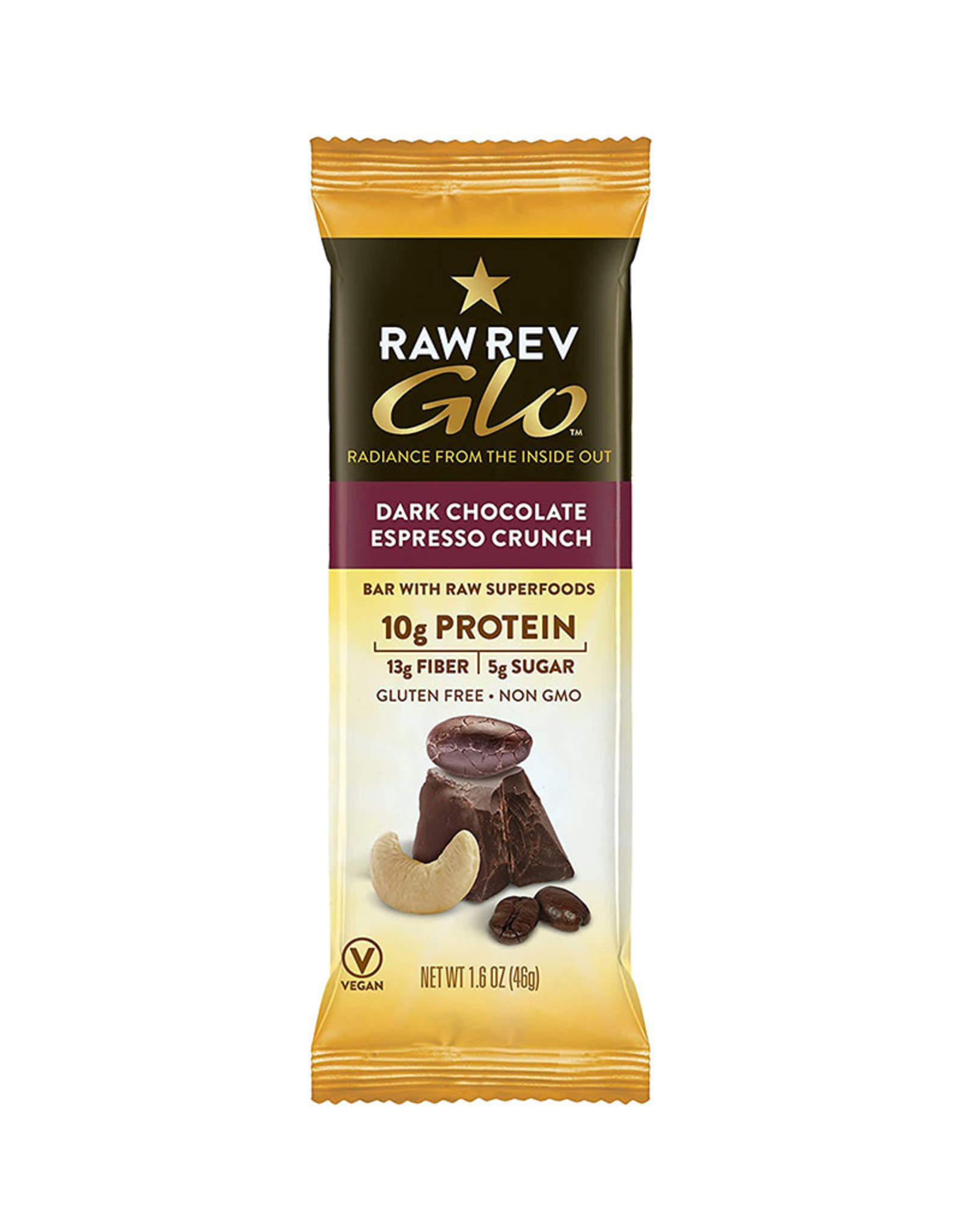 RAW Revolution Raw Revolution - Glo, Dark Chocolate Espresso Crunch