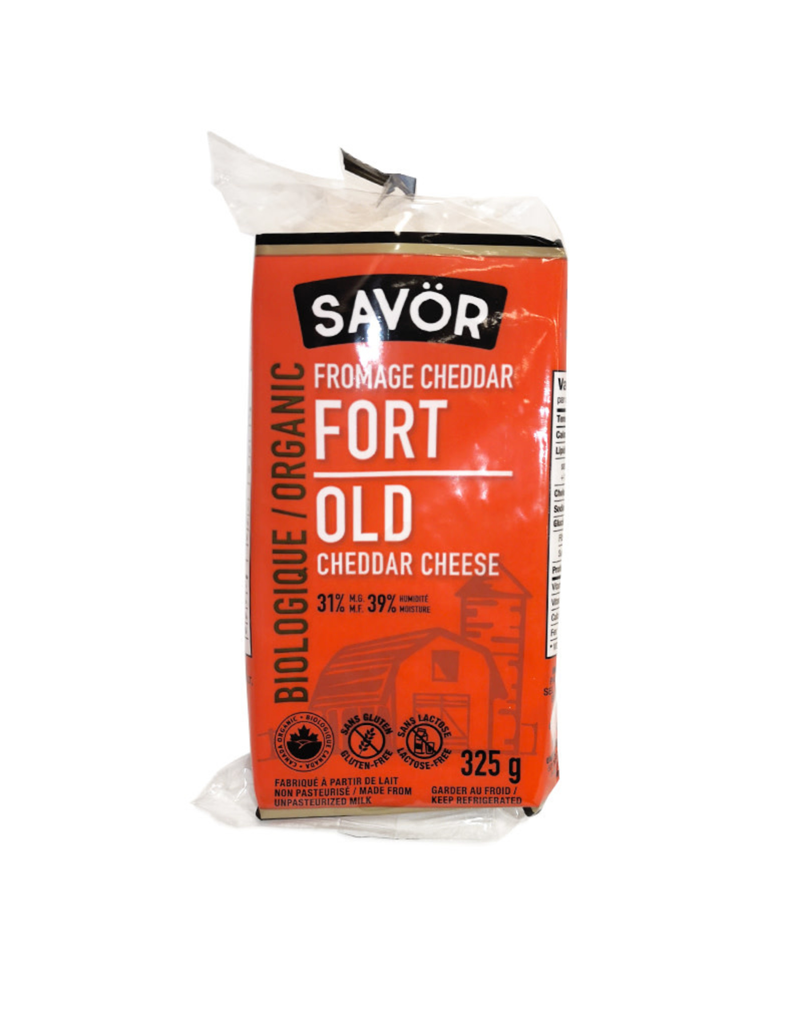 Savor Savor - Organic Cheese, Old Cheddar (325g)