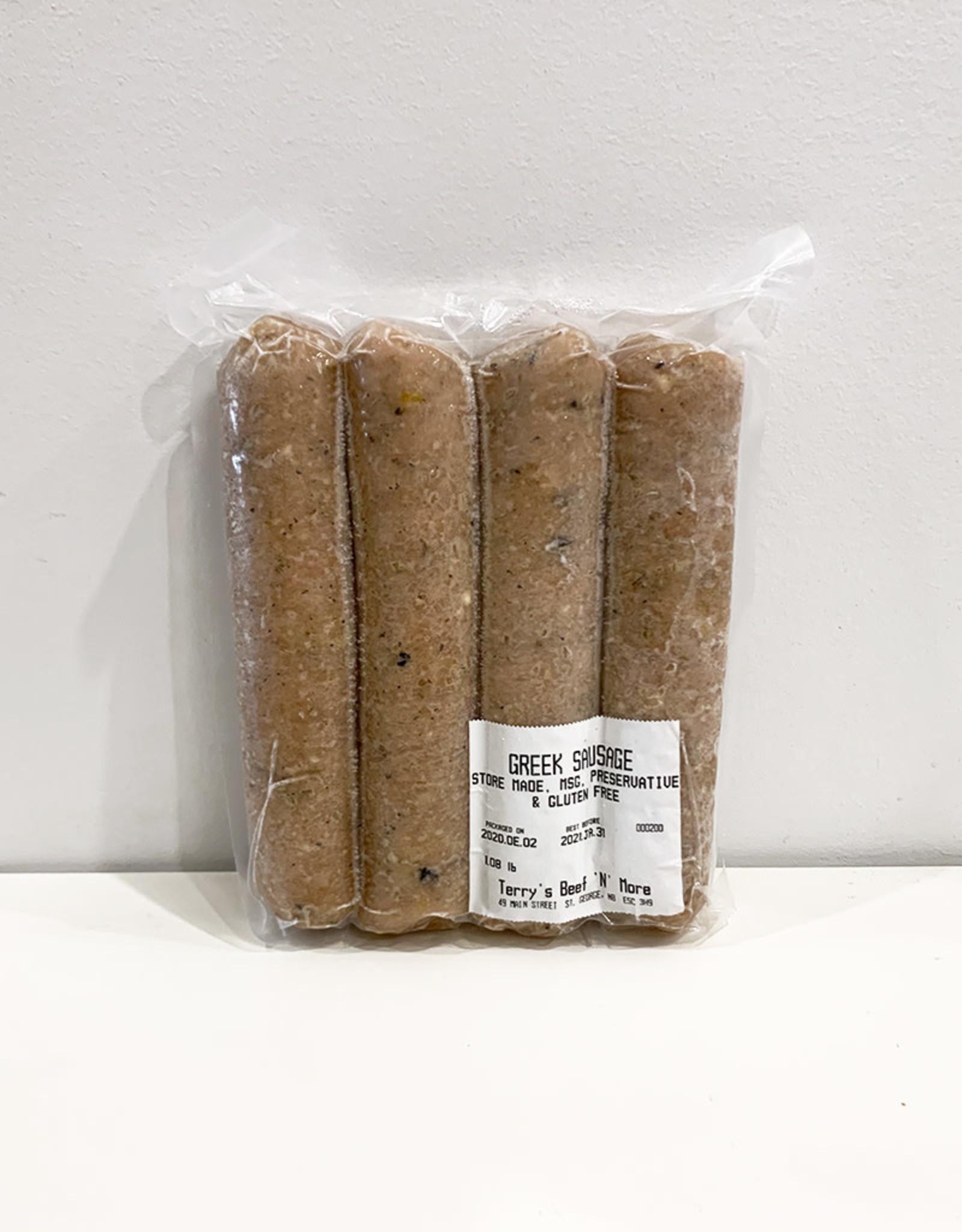 Terrys Beef n More Terrys - Turkey Sausages, Greek