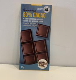 Cocoalicious Cocoalicious - 80% Cocoa, 70g