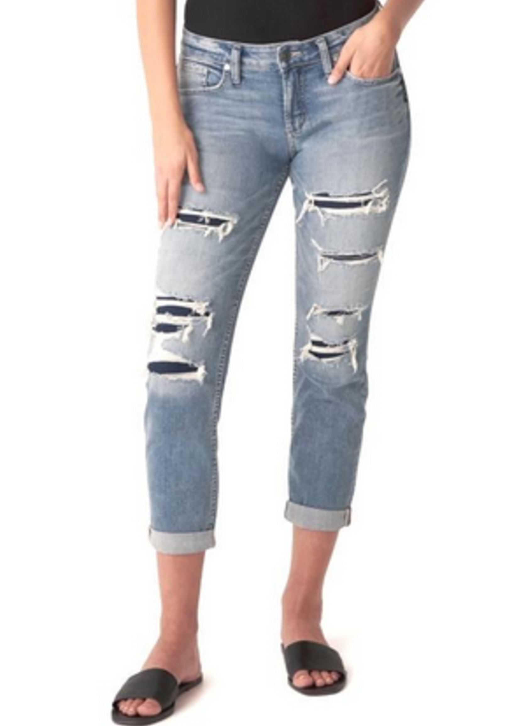 Silver Boyfriend silver jeans