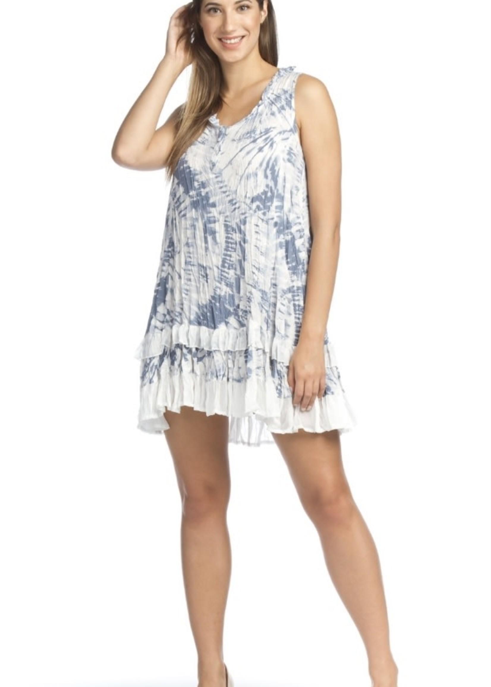 Papillon Blue/ White Dress