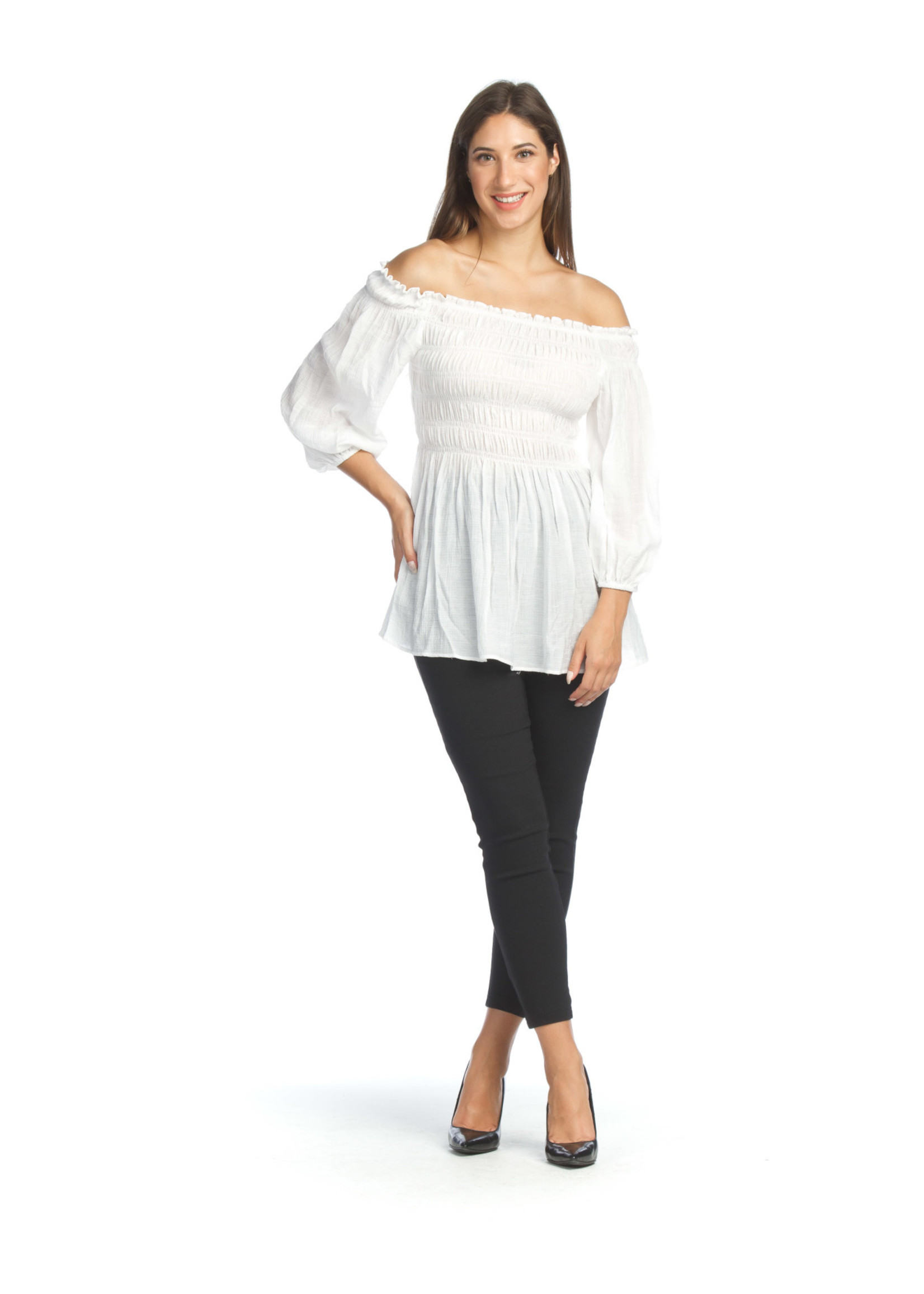 Papillon 3/4 puffy sleeve off the shoulder blouse