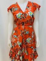 EnKay Cap sleeve high/low dress