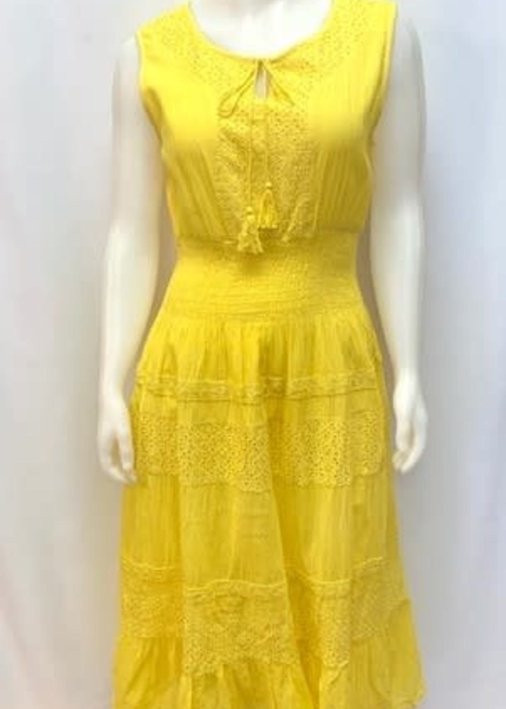 Fiori Sleeveless maxi dress
