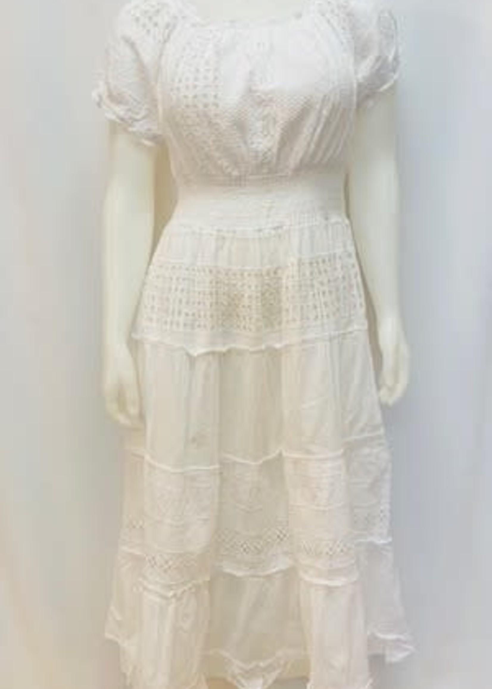 Fiori Short sleeve maxi dress