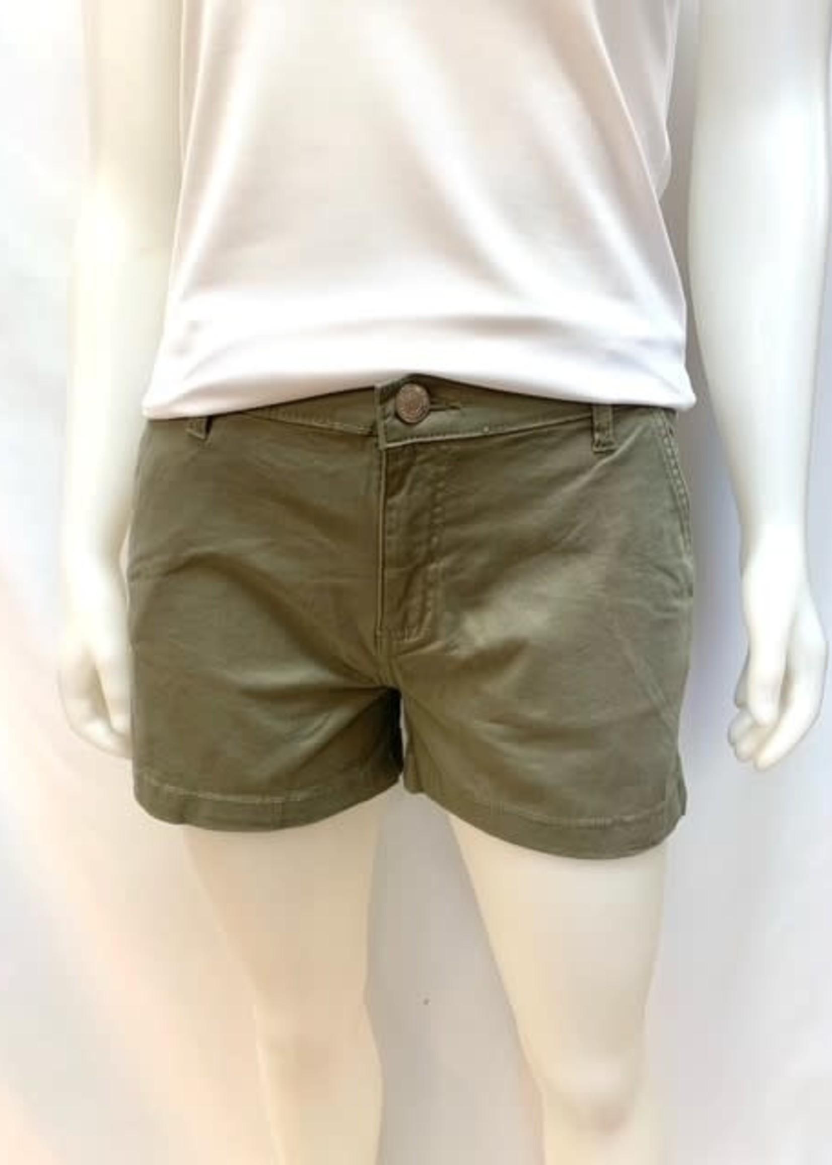 Silver Cotton Shorts