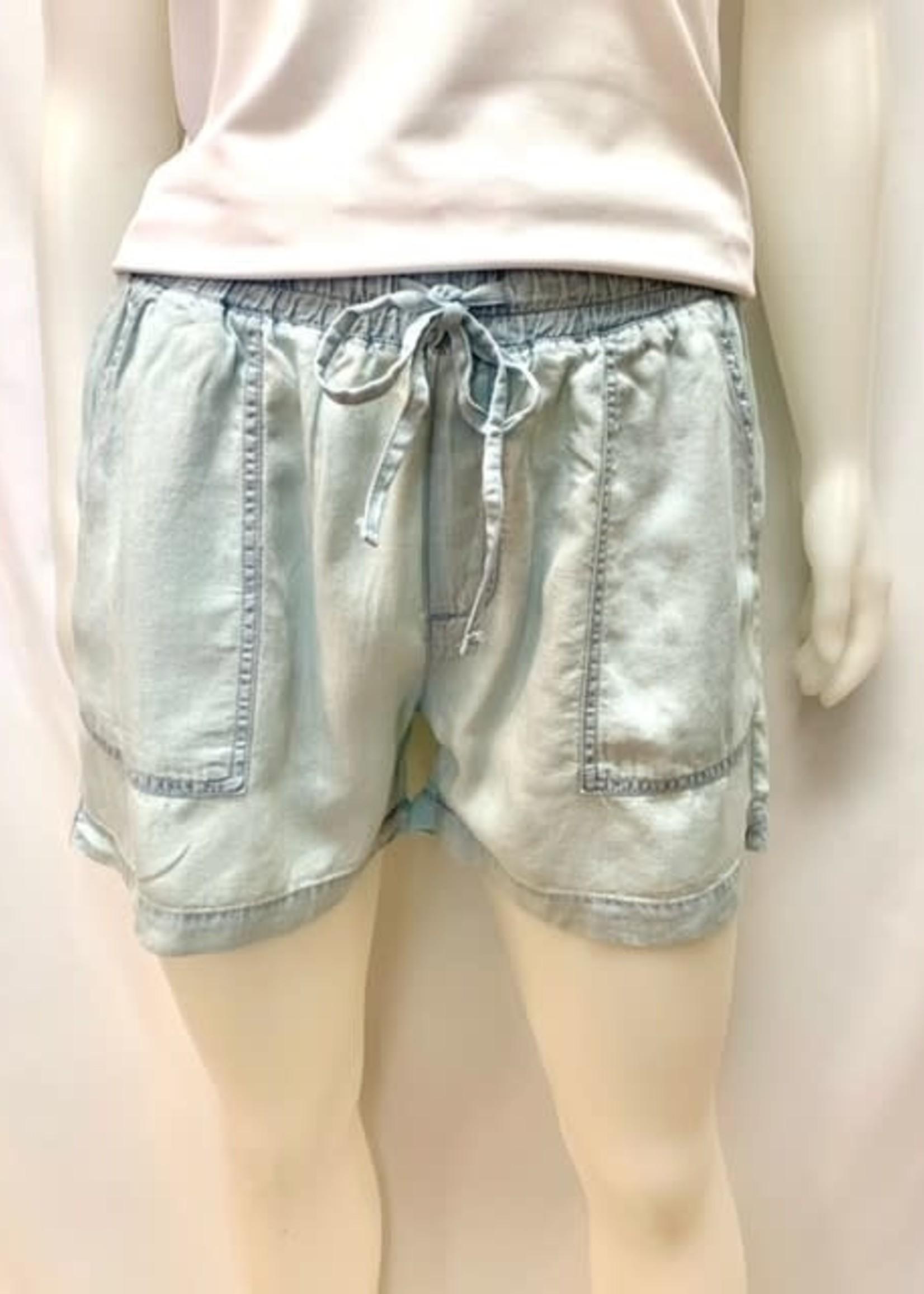 Silver Tencel short shorts