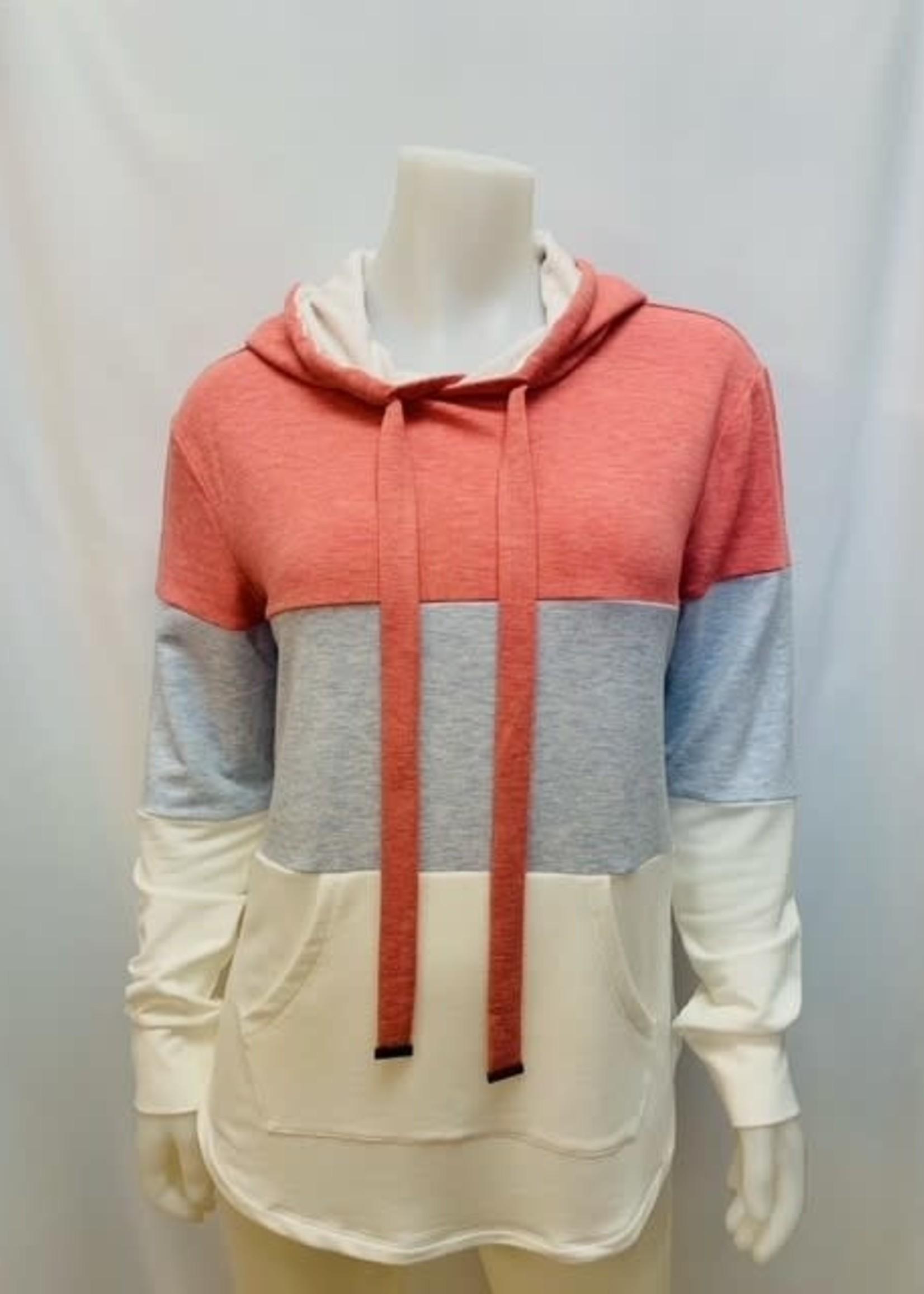 Point Zero Color block hoodie
