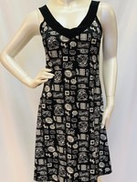 Mode Gitane V-neck Gitane sleeveless print dress, comes in numerous prints
