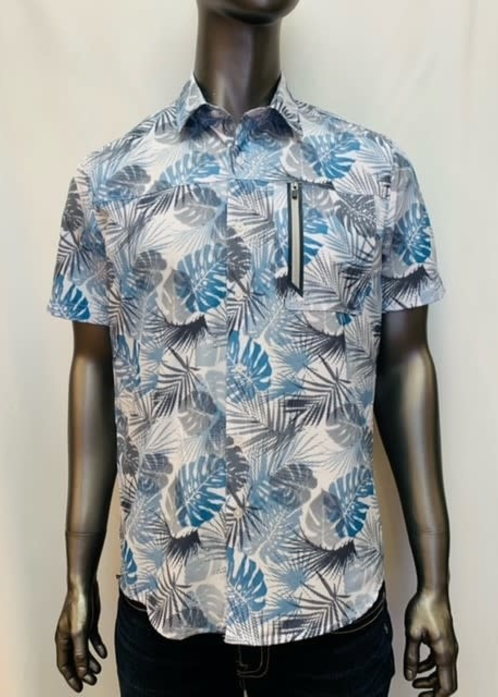 Point Zero Short Sleeve Stretch Dry Edition Printed Shirt
