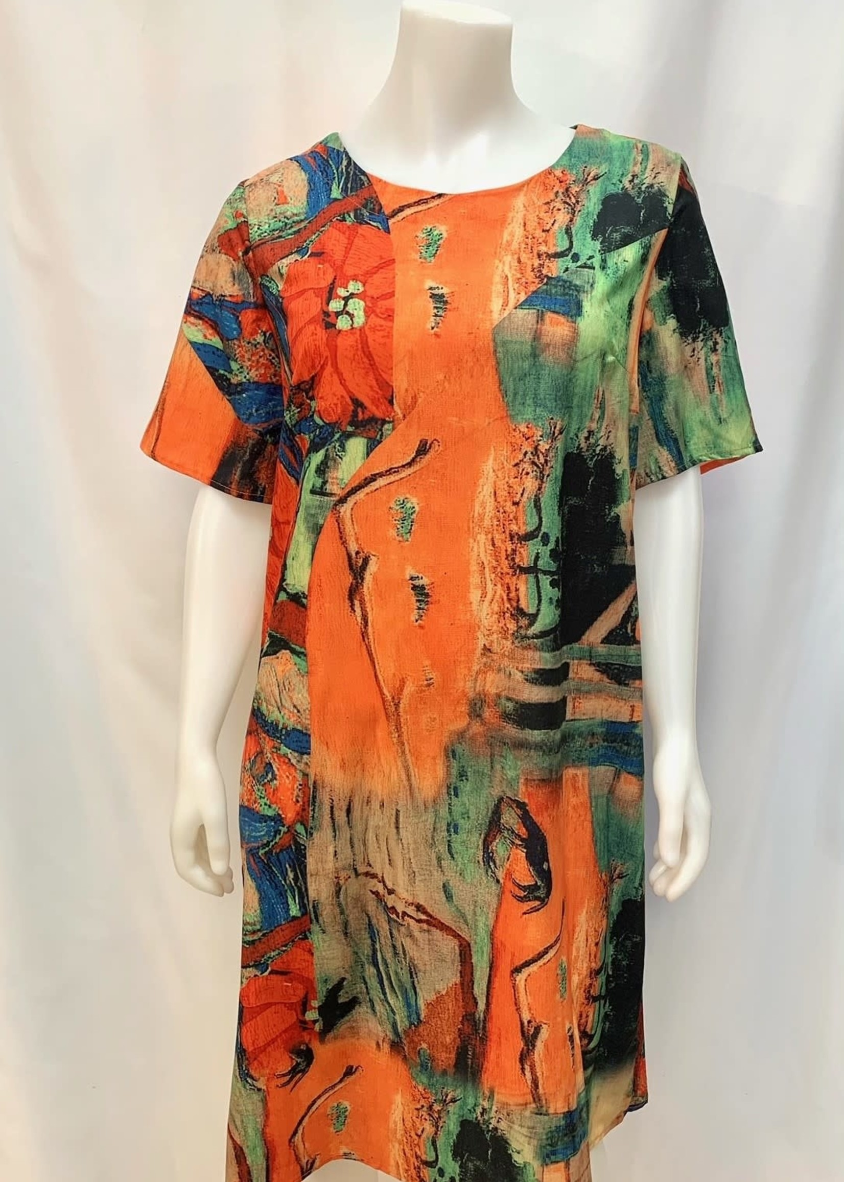 Lavena Short Sleeve Print Dress