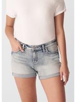 Silver Elyse curvy fit mid rise shorts