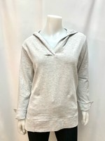 DKR & Co Long Sleeve V-neck hoodie w/side vents