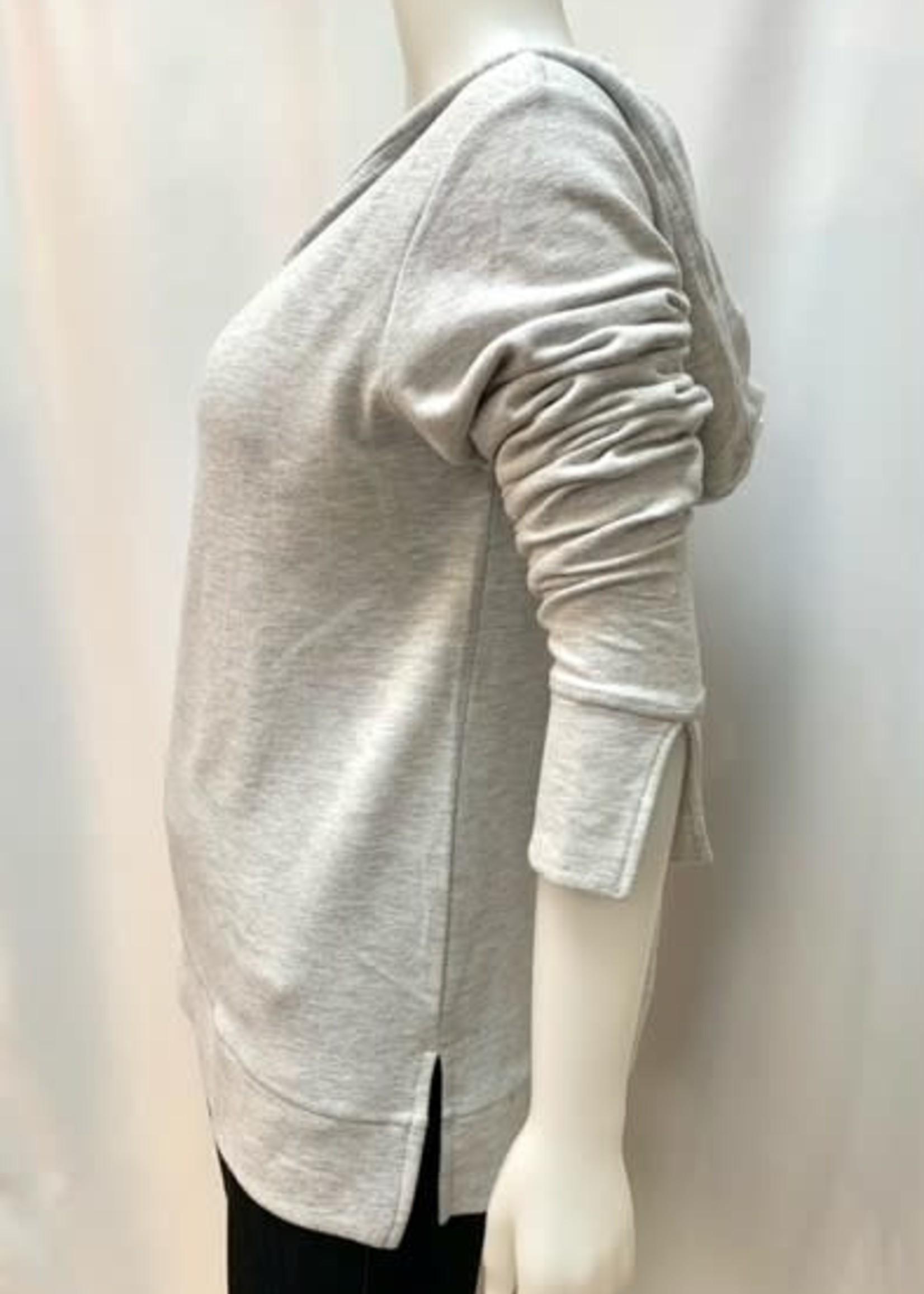 DKR & Co Long Sleeve V-neck hoodie w/side vents