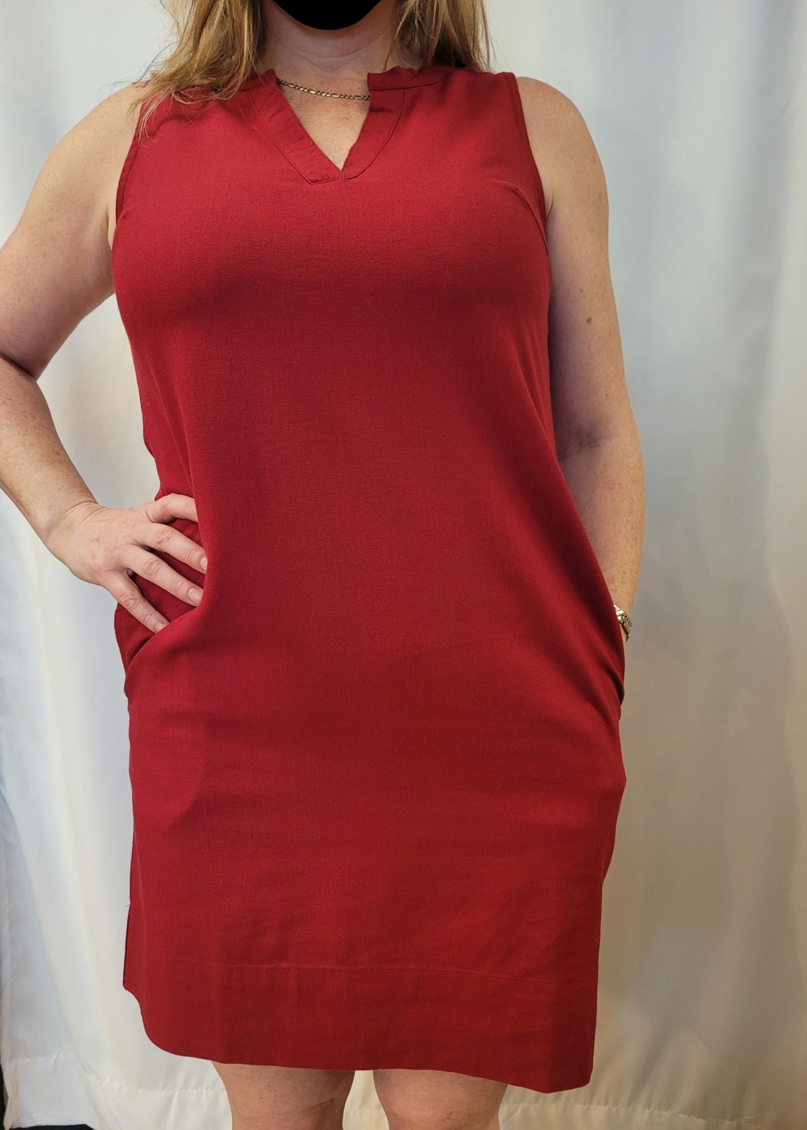 DKR & Co Sleeveless v-neck dress with pockets