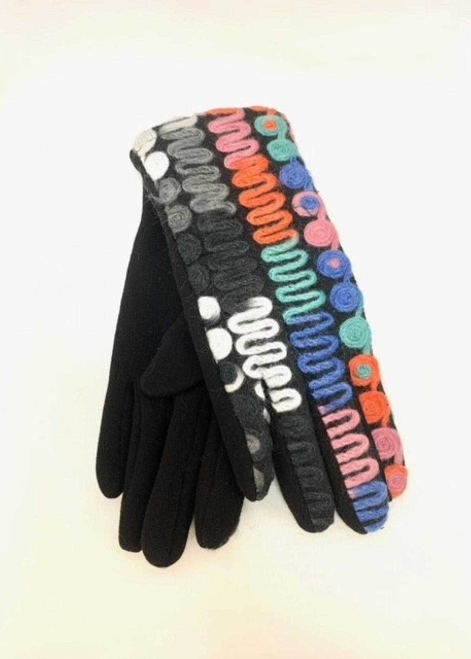 Albee multi color stretch glove
