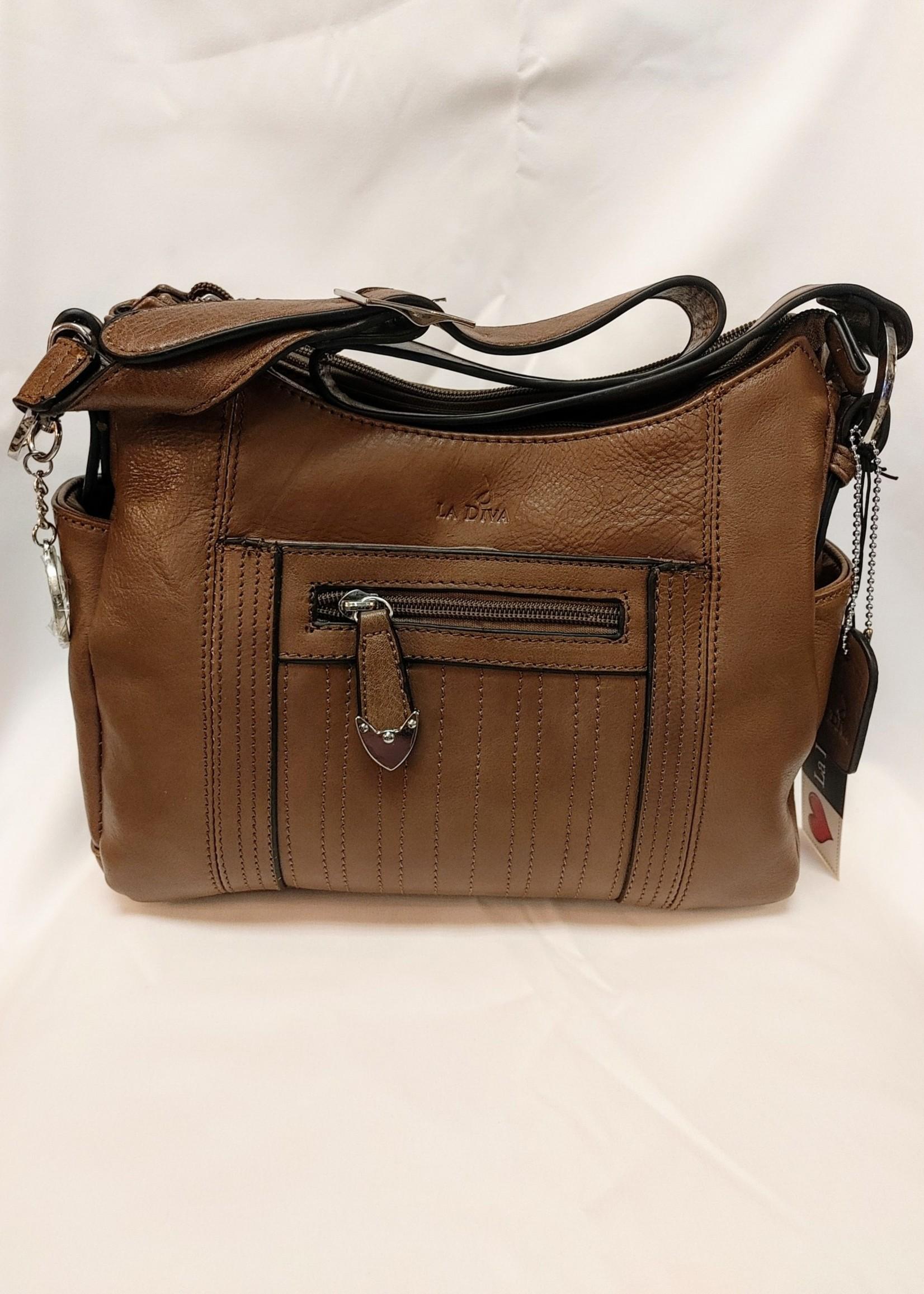 La Diva  leather purse