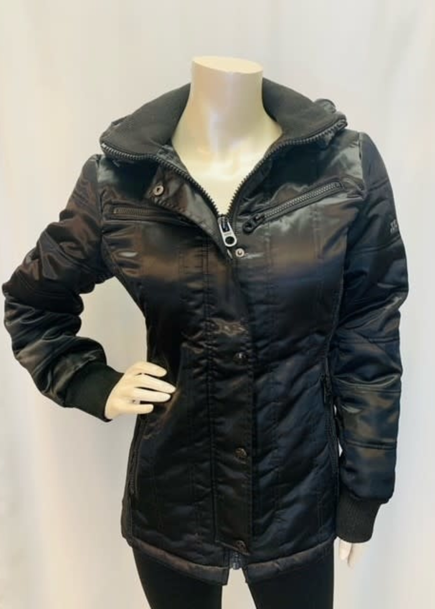 XOXO Vegan fur hood jacket