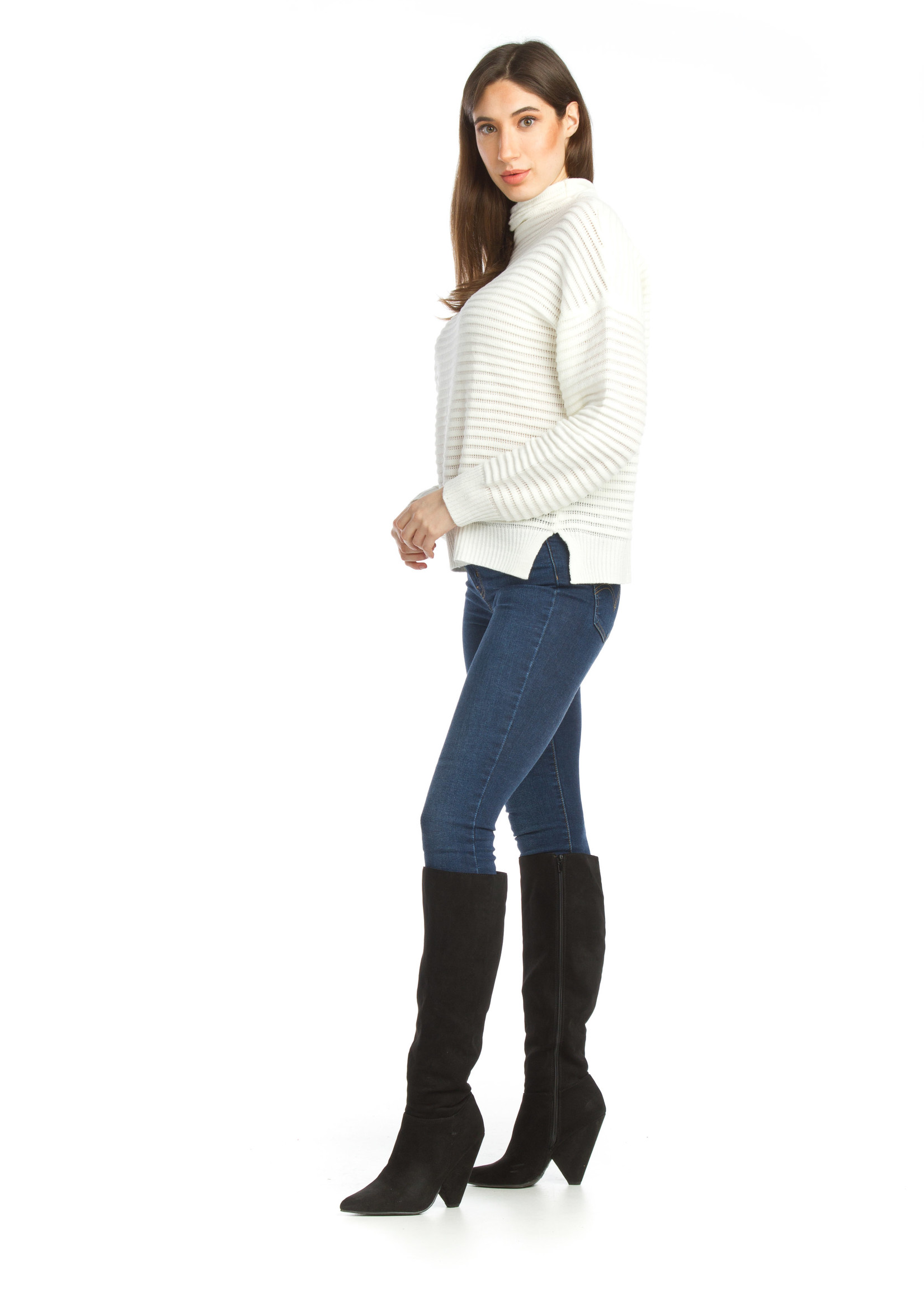 Papillon  ribbed sweater