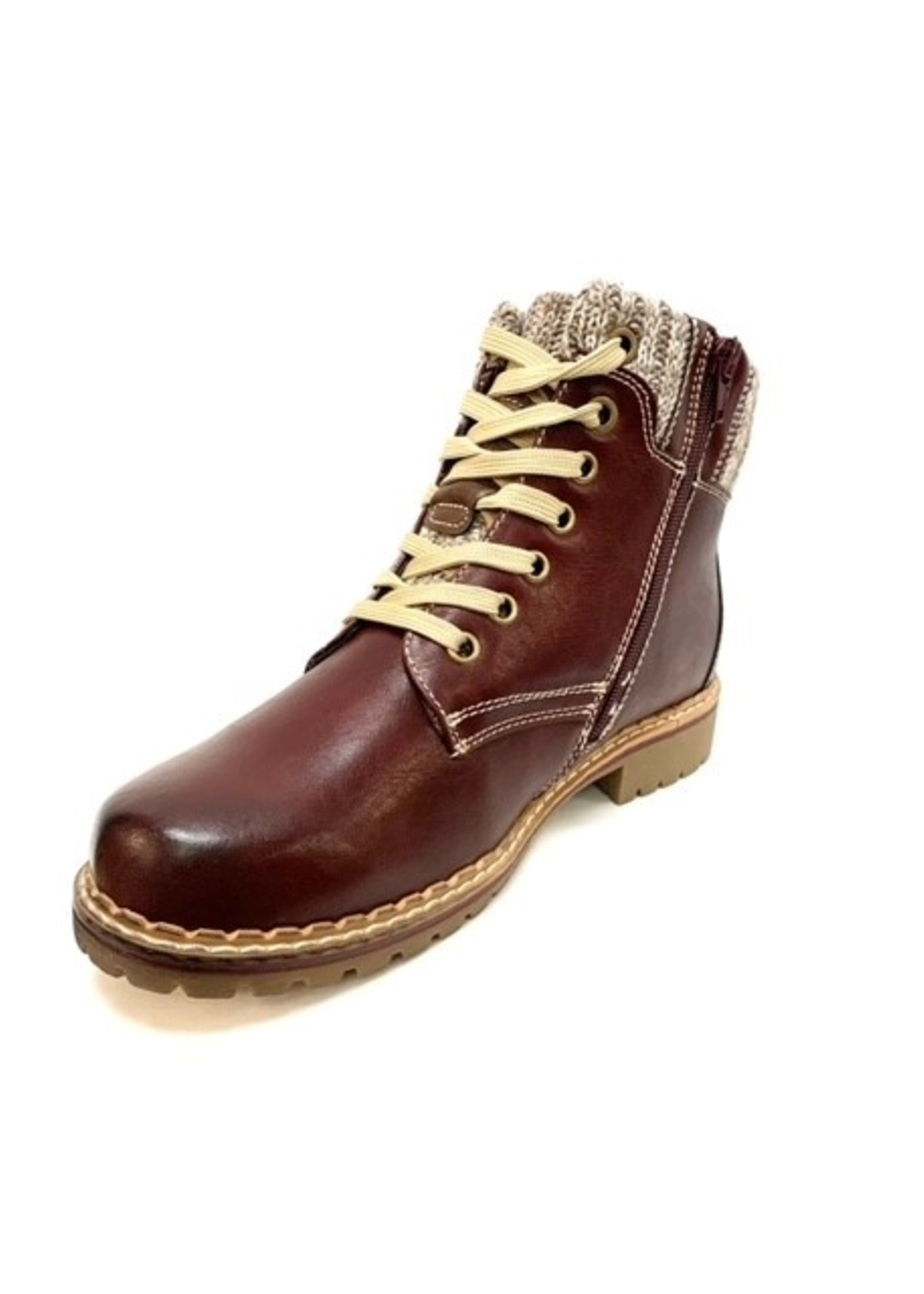 Frontier North short lace up boot with side zip, two colors
