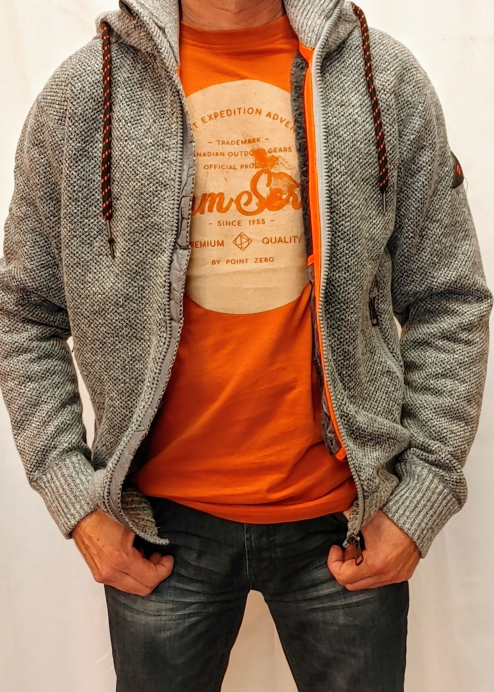 Point Zero Hooded lined sweater