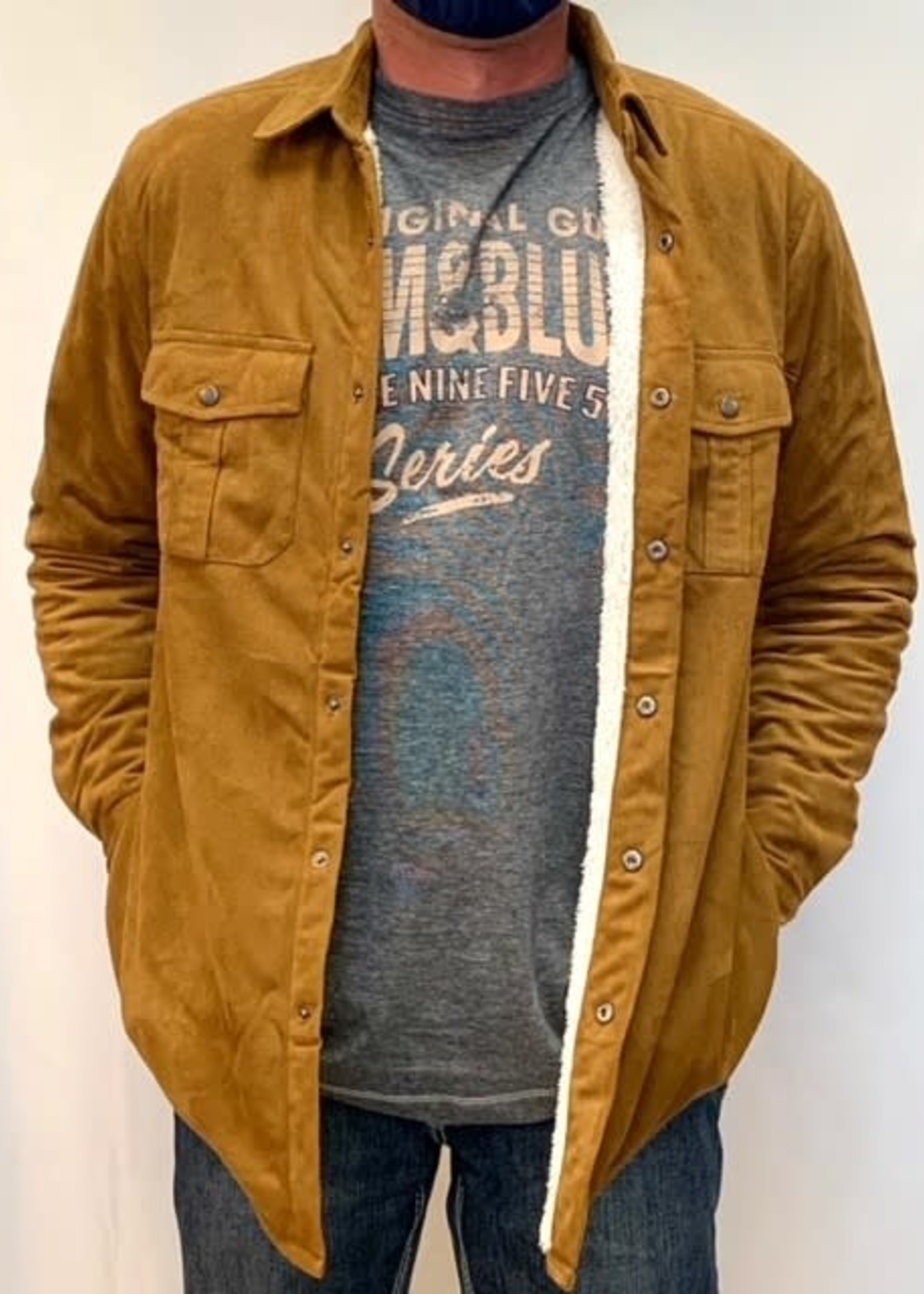 Point Zero  Poly suede sherpa lined shirt