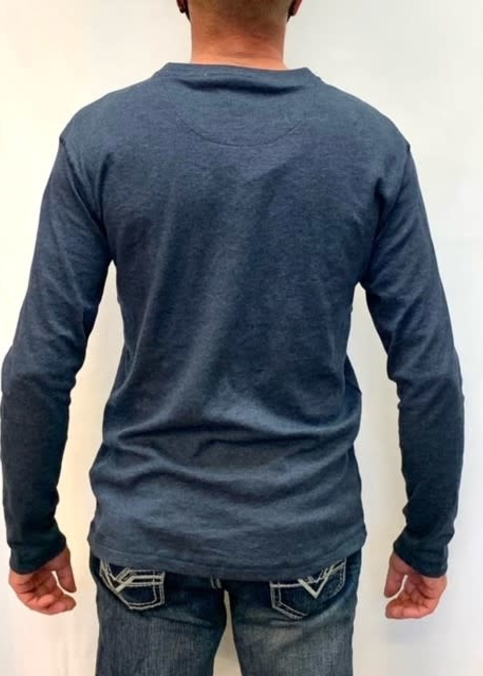 Point Zero Long Sleeve Henley shirt
