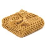 Shiva Mustard Knitted Throw