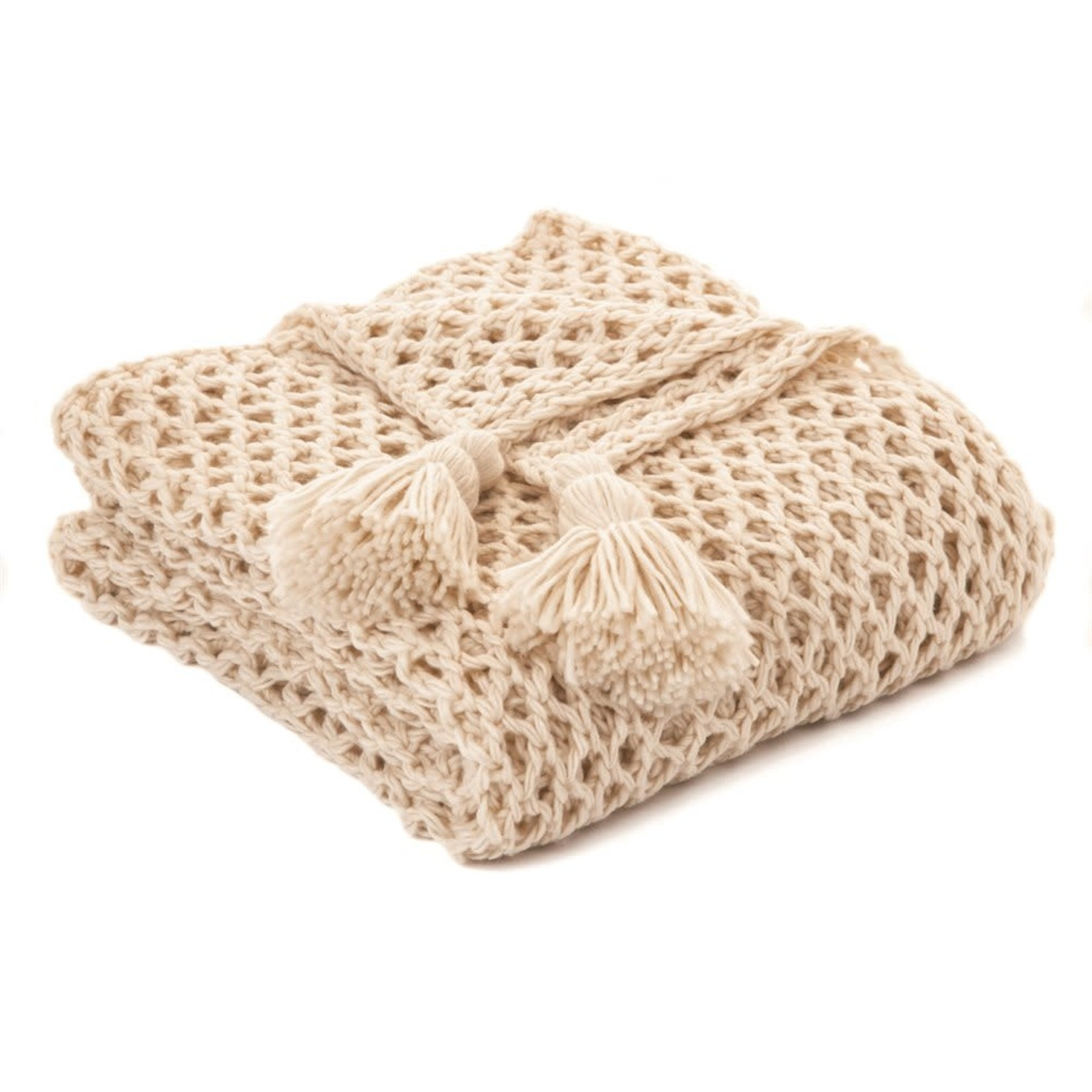 Shiva Natural Knitted Throw