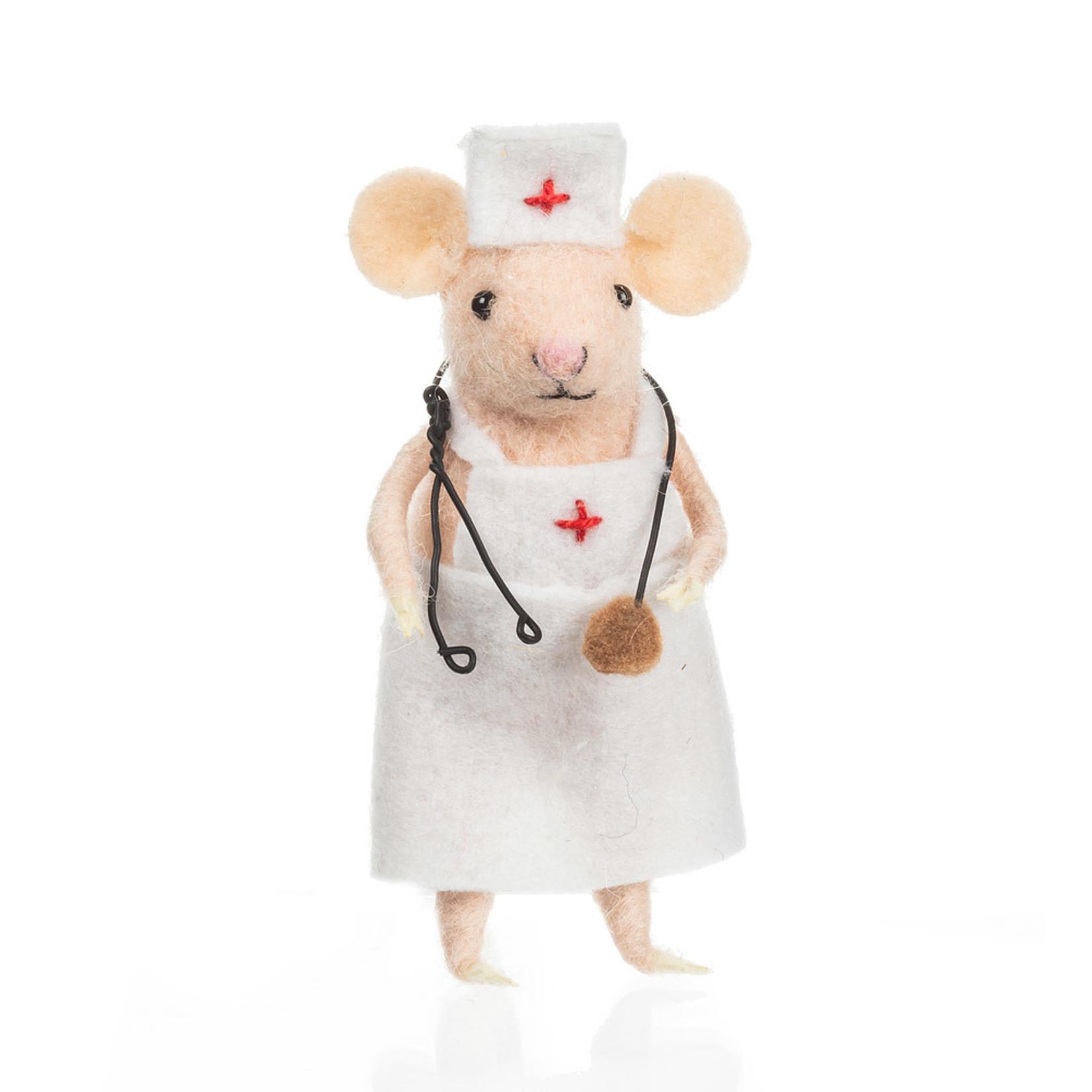 Nurse Mouse in Apron