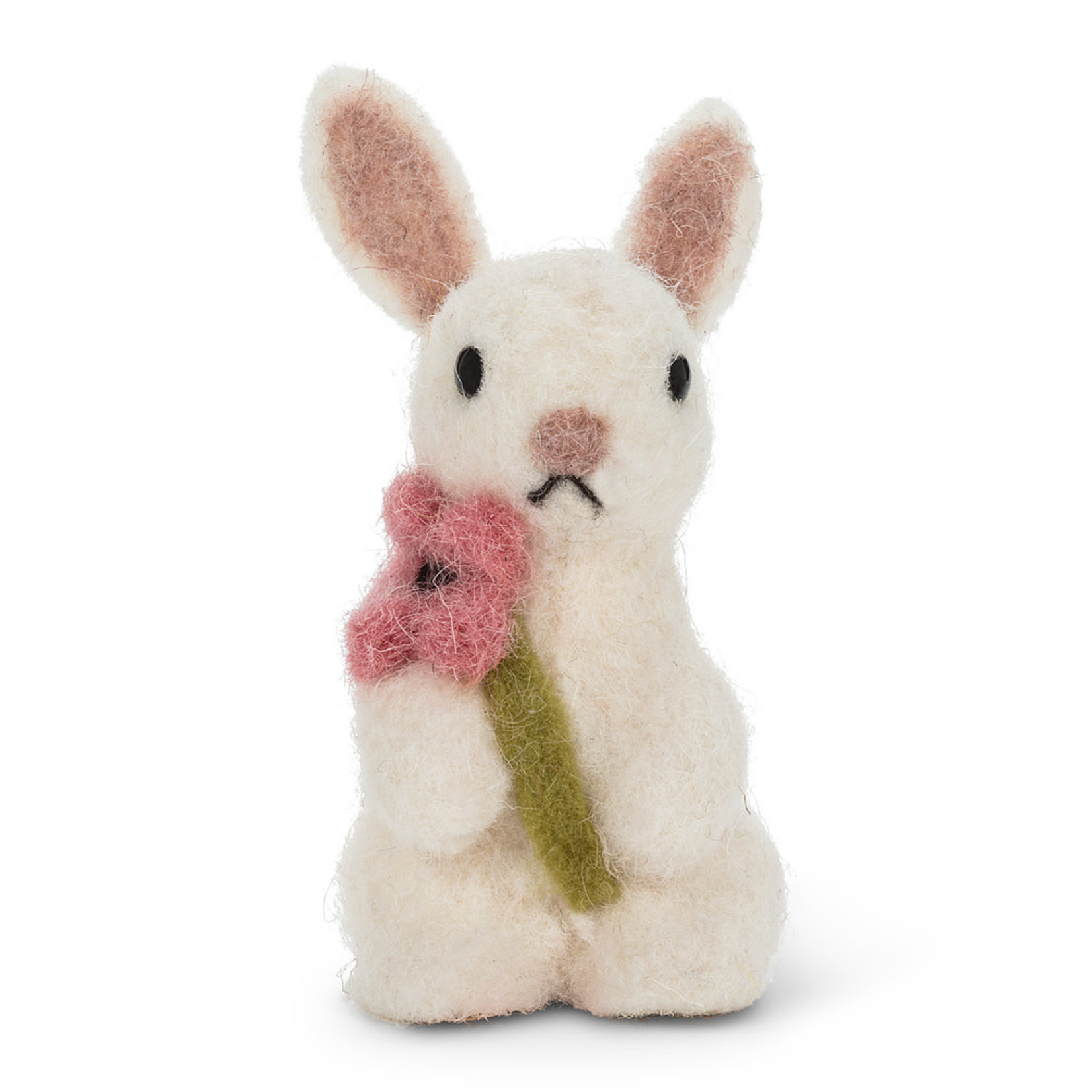 Sm Sitting Rabbit w/Flower