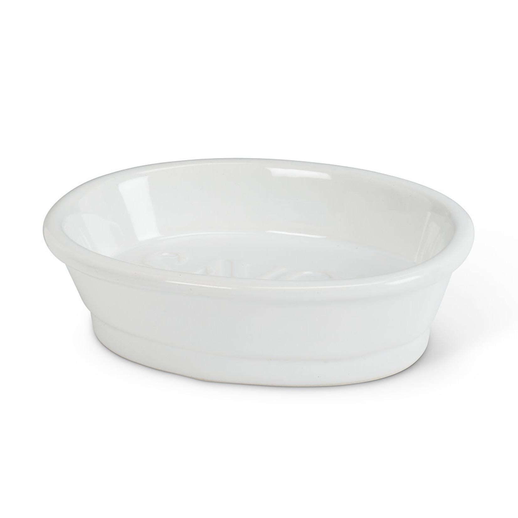"""White Oval """"Savon"""" Dish"""
